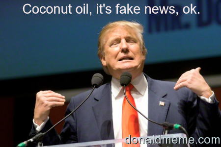 Coconut oil is fake news
