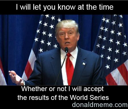 Donald Trump Cubs meme